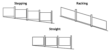 Забор из штакетника - чертёж