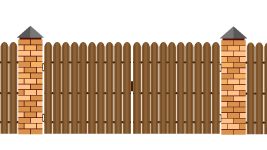 Ворота из евроштакетника, шаг 5 см.