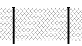 Забор из сетки рабицы - эконом, крепится к столбам 40x40