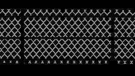 Забор из сетки рабицы натяжной на трёх прожилинах, столбы 60x40